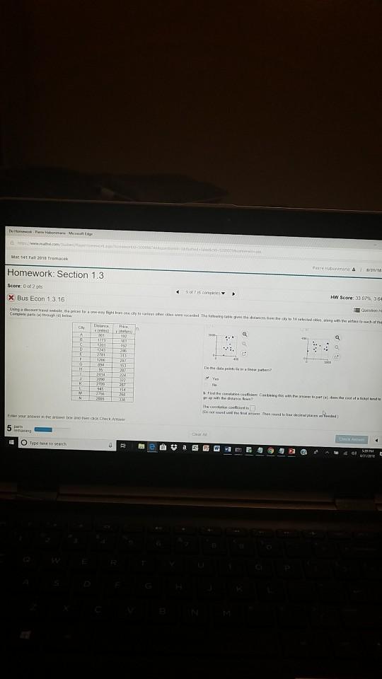 Mat 141 Fall 2018 Tromacek Homework: Section 1 3 S    | Chegg com