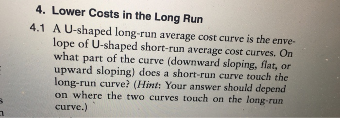 why is the long run average cost curve u shaped