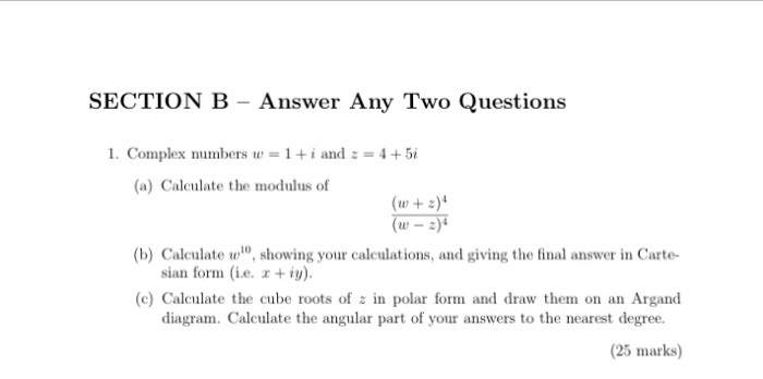 modulus of a complex number z