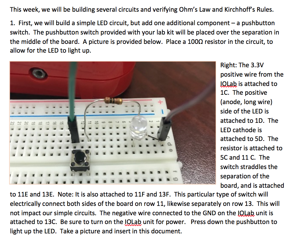 Solved 3 Measure The Resistance Across Each Resistor An Simple Led Circuit Light And Entire To Verify Your Calc