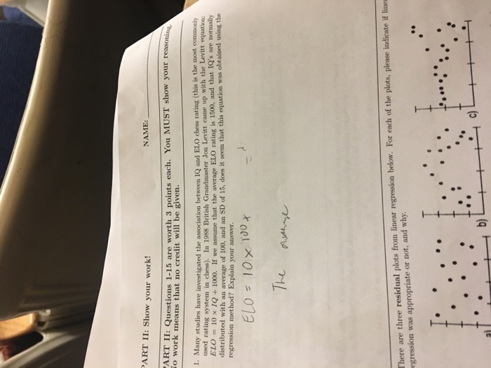 Solved  ART II  Show Your Work! NAME  APHT II  Questions 1 ... c35257826