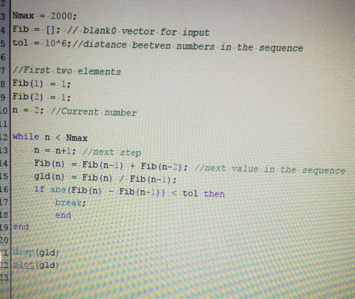 Solved: Golden Meaning Code Scilab  This Is My Code I'm Do