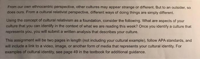 cultural relativism examples today