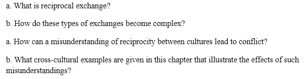 Solved A What Is Reciprocal Exchange B How Do These Ty