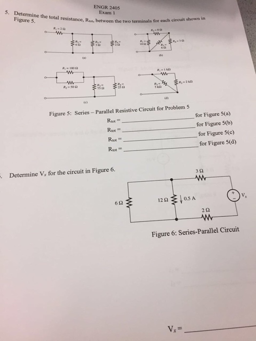 Solved: Determine The Total Resistance, R_tot, Between The ...
