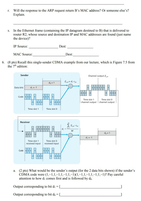 Solved: Will The Response Explain R. To The ARP Request Re ...