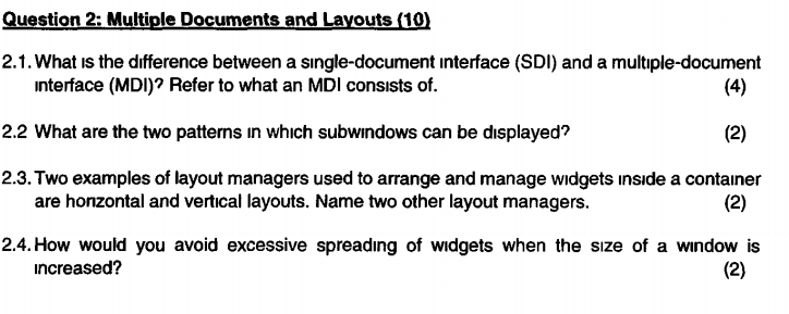 Question 2: Multiple Documents And Layouts (10) 2       Chegg com