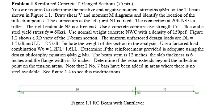 Solved: 12 Figure 1 2 3D View Of Reinforced Concrete T-Bea