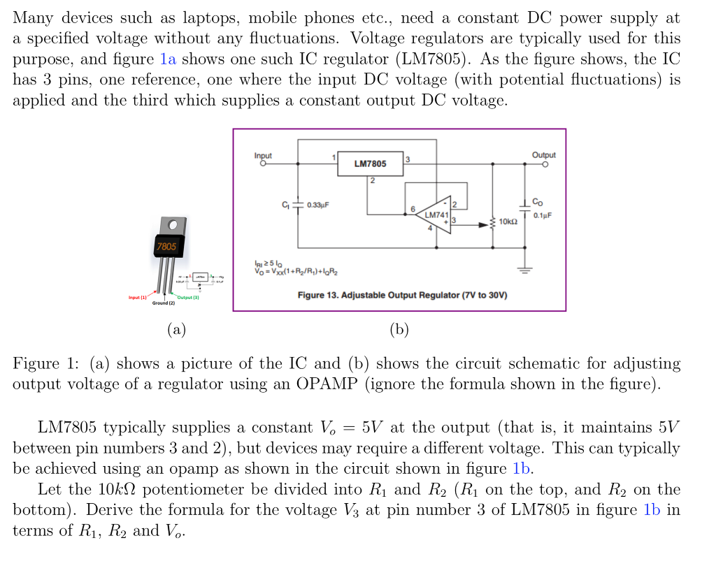 Solved Many Devices Such As Laptops Mobile Phones Etc Dc Voltage Regulator Wiring Diagram Need A Constant Power