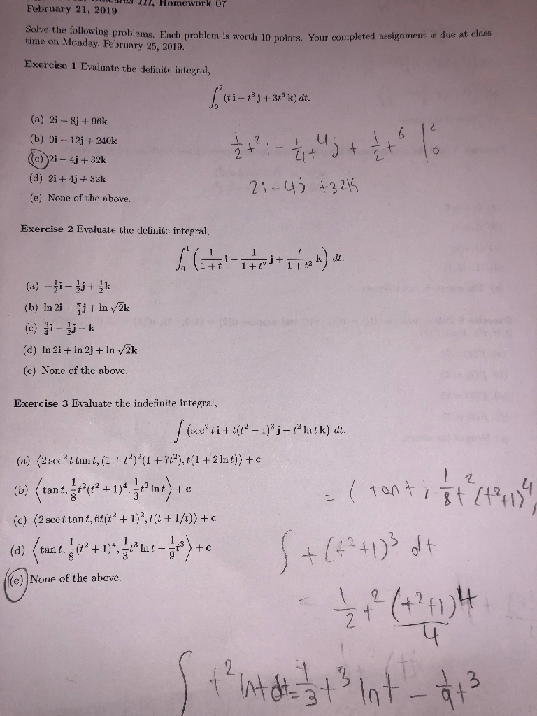 Solved: Exercise 4 Suppose That R(t) (2t, 3, ) And R(1) (1