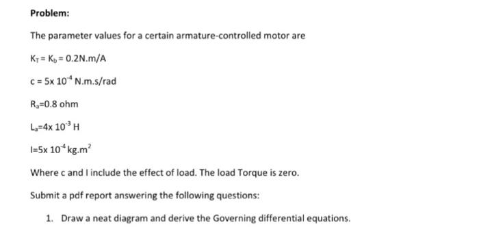 Solved  Problem  The Parameter Values For A Certain Armatu