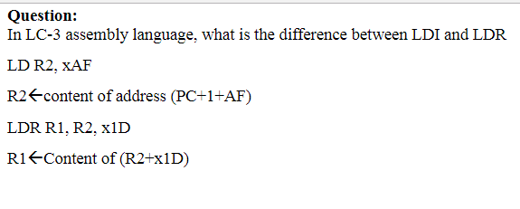 Question: In LC-3 Assembly Language, What Is The D... | Chegg.com