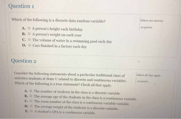 Volume Of Water In A Swimming Pool Discrete Or Continuous ...