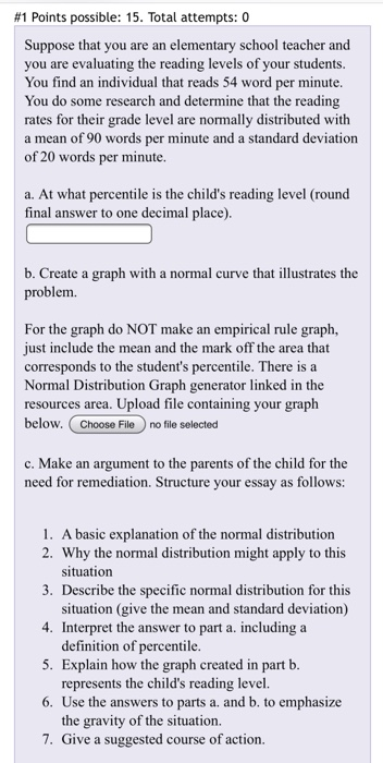 essay reading level
