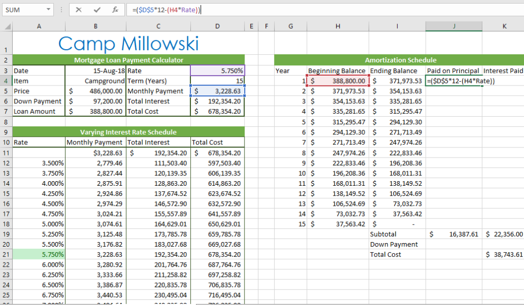 Amortization Schedule Formula >> Solved Kaleen Now Wishes To Finalize The Amortization Sch