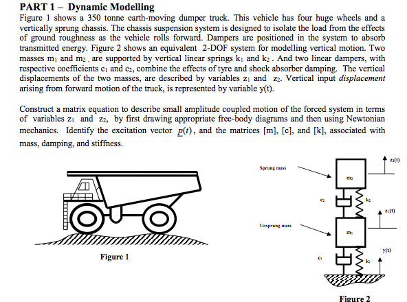 Solved: PART1 - Dynamic Modelling Figure 1 Shows A 350 Ton