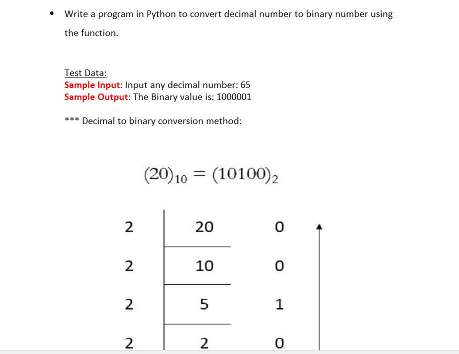 Program In Python To Convert Decimal