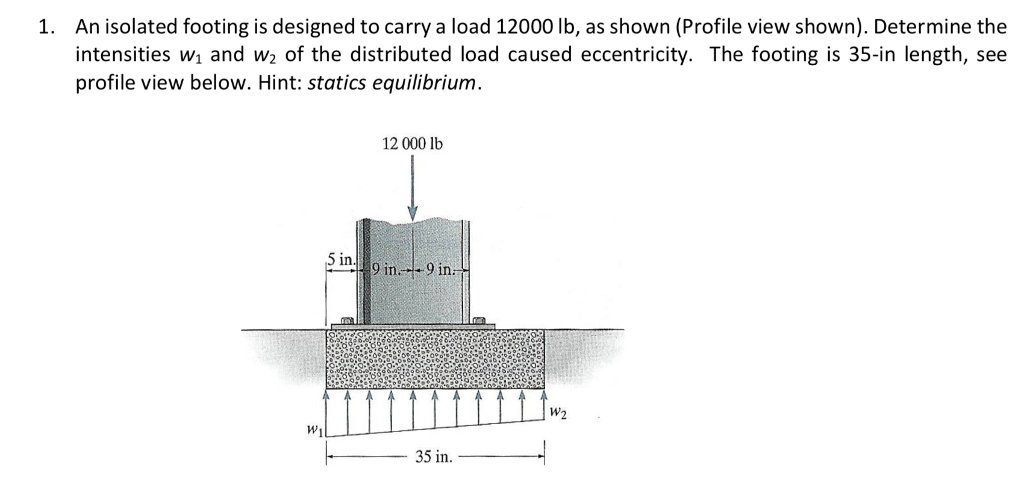 Solved: 1  An Isolated Footing Is Designed To Carry A Load