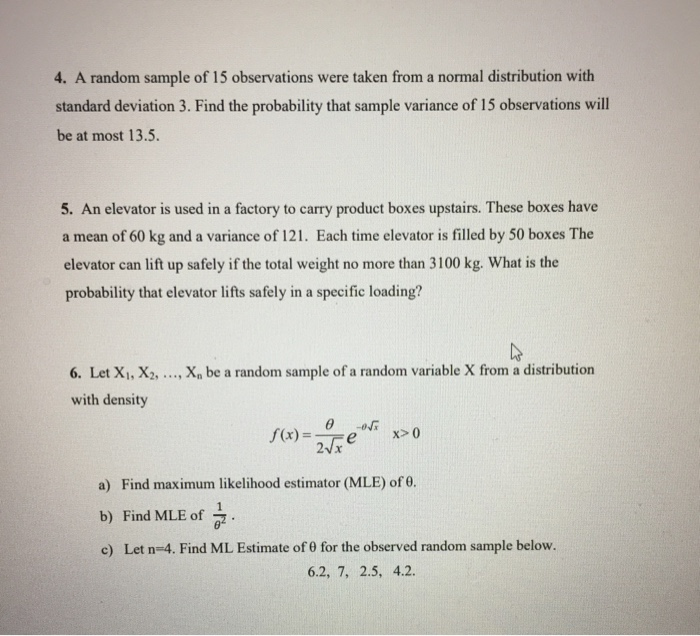 Statistics And Probability Recent Questions Chegg Com