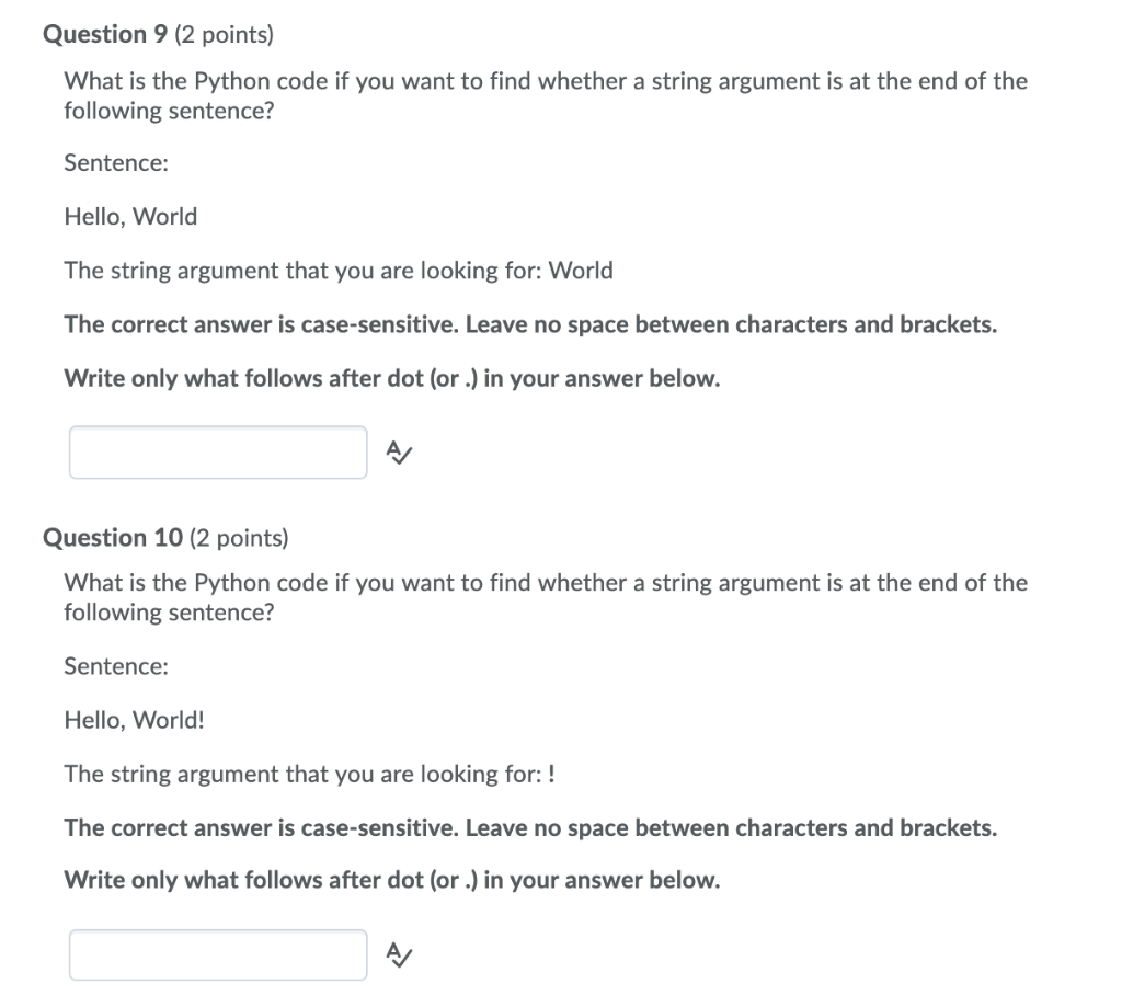 Solved: Question 9 (2 Points) What Is The Python Code If Y