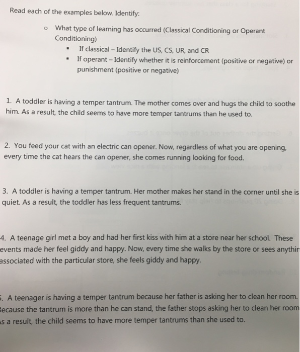 Solved: Read Each Of The Examples Below  Identify: What Ty
