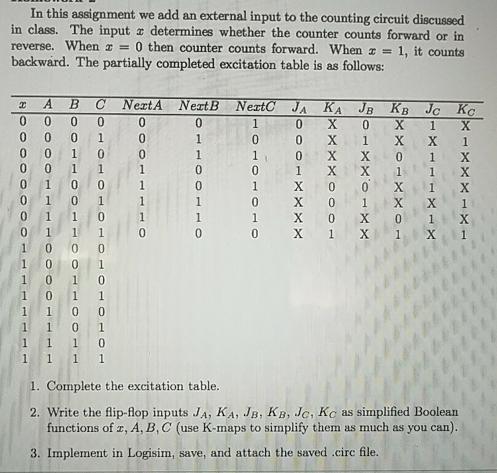 Solved In This Assignment We Add An External Input To The Also Can I Run Them A Parallel Or Some Kind Of Circuit Save Counting Discussed Class