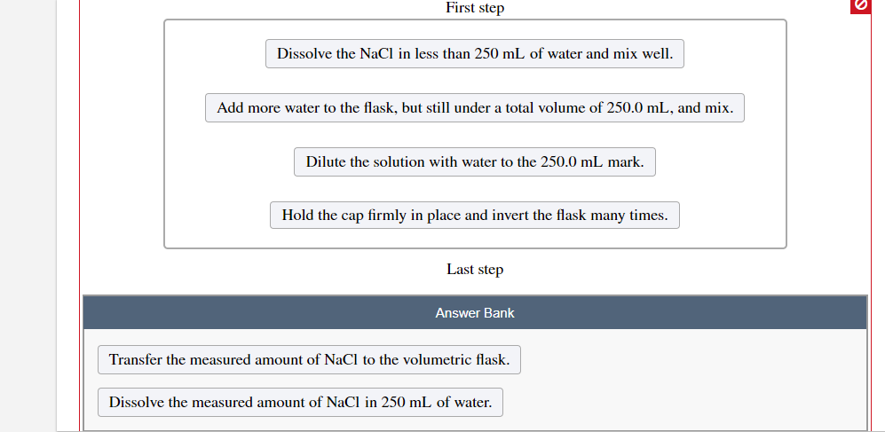 Solved Describe How To Prepare This Solution Using A 250