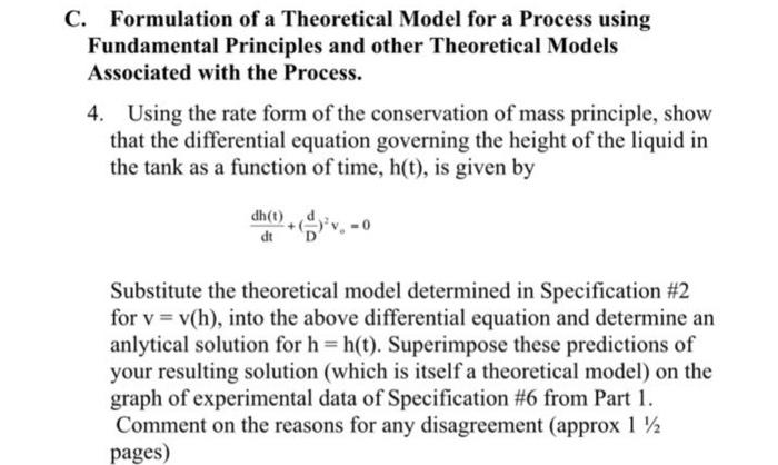part i model formulation
