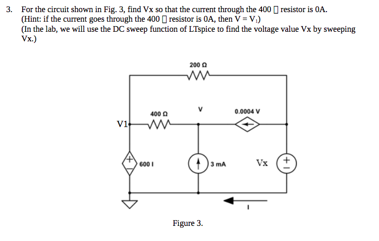 solved 3 for the circuit shown in fig 3 find vx so tha rh chegg com