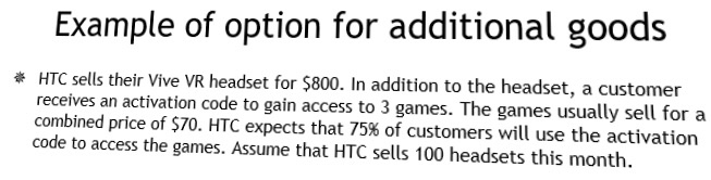 Solved: Example Of Option For Additional Goods *HTC Sells