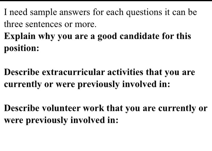 why are you the best candidate for this position answers
