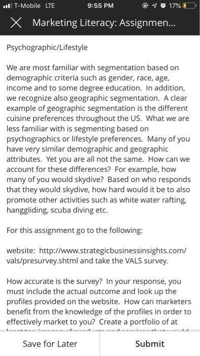 vals survey