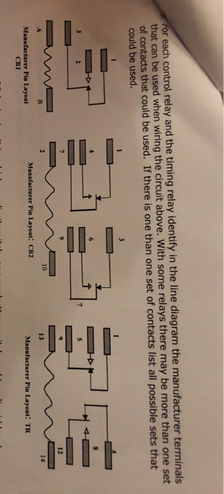For Each Control Relay And The Timing Relay Identi ... Identified Relay Contacts Wiring Diagrams on