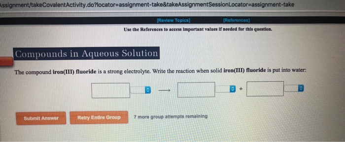 Solved: Assignment/takeCovalentActivity do?locator-assignm