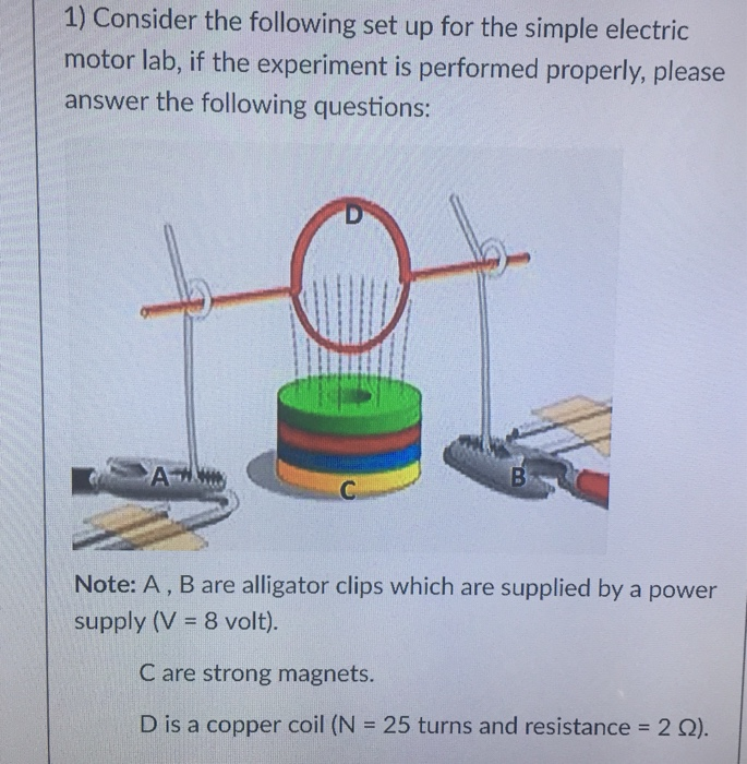 Solved: 1) Consider The Following Set Up For The Simple El