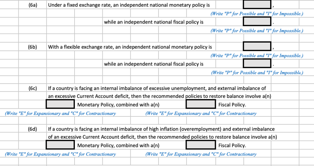 6a)Under A Fixed Exchange Rate, An Independent Na    | Chegg com