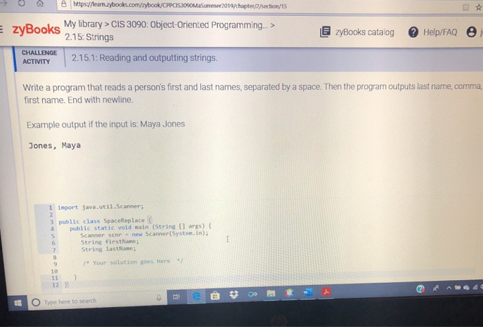 Solved Httpslearnzytbookscomzybookcpp Omasummer2019