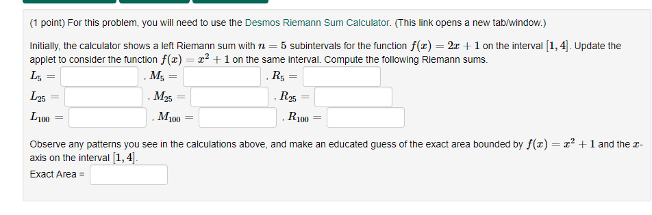 Solved: (1 Point) For This Problem, You Will Need To Use T
