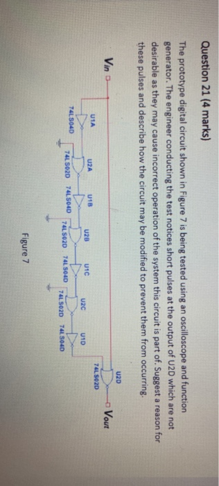 Solved: Question 21 (4 Marks) The Prototype Digital Circui