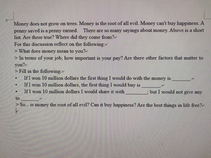 does money mean happiness