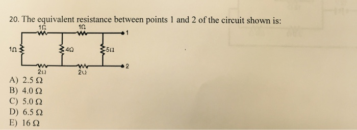 solved the equivalent resistance between points 1 and 2 o rh chegg com
