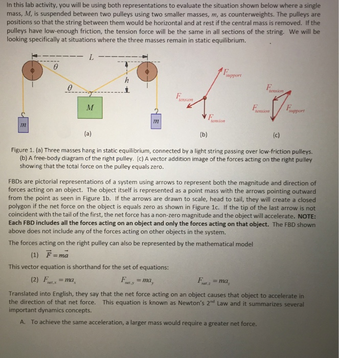 Solved Using Your Free Body Diagrams Write Down The Comp