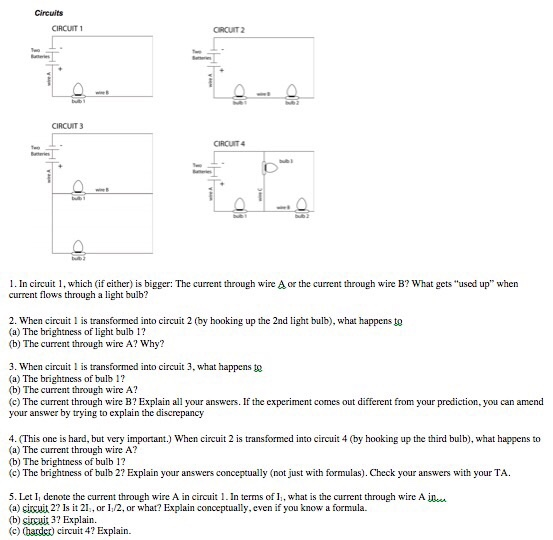 Solved: Circuits CIRCUIT ORCUT2 CIRCUIT 3 CIRCUIT 1. In Ci ...