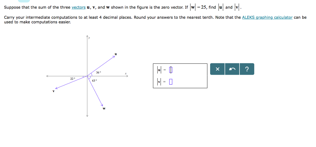 Solved: Suppose That The Sum Of The Three Vectors U, V, An