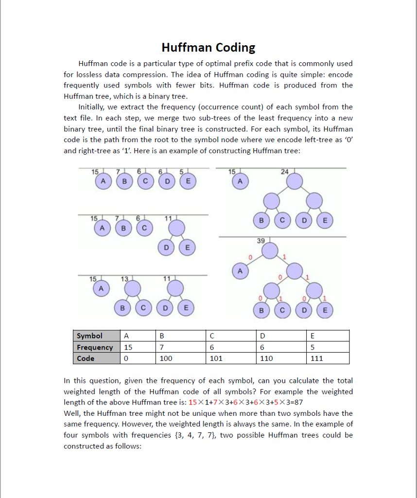 Huffman Coding Huffman Code Is A Particular Type O