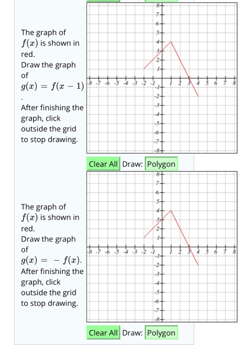 Solved: The Graph Of F(x) Is Shown In Red Draw The Graph O