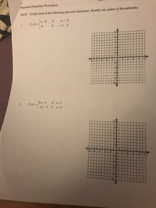Solved Functions Worksheet Graph Each Of The Following Pi