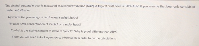 how is proof measured in alcohol
