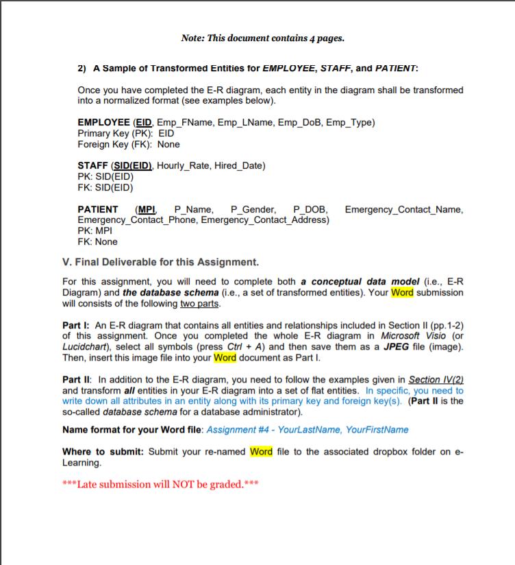 CIS3600 Systems Analysis And Design Assignment #4-    | Chegg com