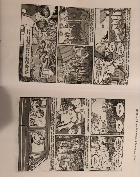"""Solved: Read: Alison Bechdel, From """"Fun Home: A Family Tra"""